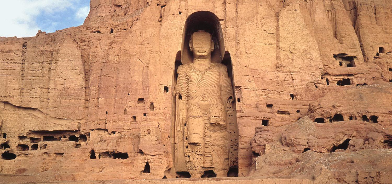 I Buddha di Bamiyan apparivano così prima della distruzione ad opera dei talebani nel 2002